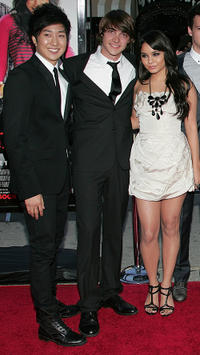 Tim Jo, Ryan Donowho and Vanessa Hudgens at the  California premiere of