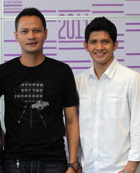 Ray Sahetapy and Iko Uwais at the photocall of 2011 Doha Tribeca Film Festival in Qatar.