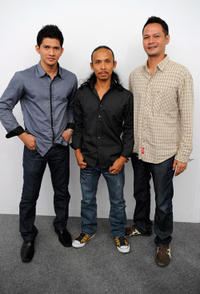 Iko Uwais, Yayan Ruhian and Ray Sahetapy at the portrait session of