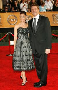Laura Leighton and her husband Doug Savant at the 13th Annual Screen Actors Guild Awards.