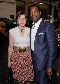 Kate W. and Daniel Breaker at the Off-Broadway Opening Night of