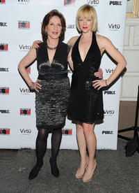 Kelly Bishop and Emily Bergl at the Broadway opening night of