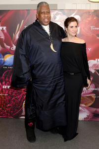 Andre Leon Talley and Elizabeth Musmanno at the 2013 Fragrance Foundation Awards.