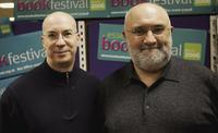 Jon Fink and Alexei Sayle at the Essex Book Festival.