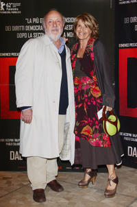 Renato Scarpa and Lella Costa at the Milan premiere of