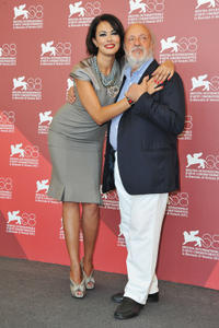 Director Maria Grazia Cucinotta and Renato Scarpa at the photocall of