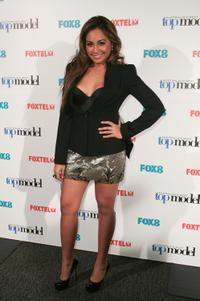 Jessica Mauboy at the final of Australia's Next Top Model.