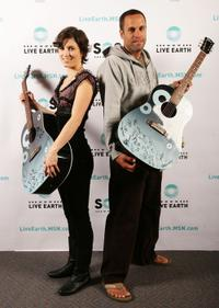 Missy Higgins and Jack Johnson at the Australian leg of the Live Earth series of concerts.