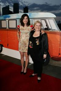 Missy Higgins and Magda Szubanksi at the Sydney premiere of