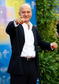 Claudio Bisio at the Mediaset TV programming presentation.