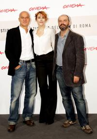 Claudio Bisio, Anita Caprioli and Giulio Manfredonia at the photocall of