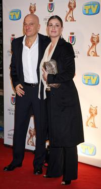 Claudio Bisio and Vanessa Incontrada at the Italian TV Awards