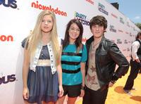 Ana Mulvoy Ten, Jade Ramsey and Brad Kavanagh at the Orange Carpet of the Nickelodeon's Los Angeles premiere of