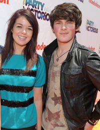 Jade Ramsey and Brad Kavanagh at the Orange Carpet of the Nickelodeon's Los Angeles premiere of