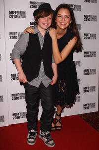 Tom Russell and Jacinda Barrett at the world premier of