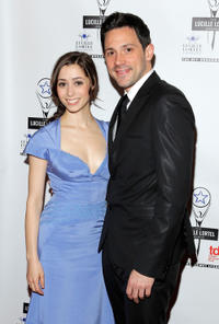 Cristin Milioti and Steve Kazee at the 27th Annual Lucille Lortel Awards.
