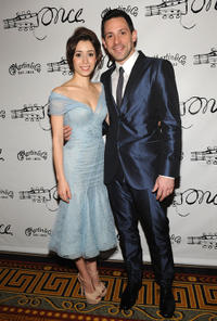 Cristin Milioti and Steve Kazee at the after party of the Broadway opening night of