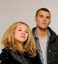 Juno Temple and Chris Zylka at the Sundance Film Festival in Utah.