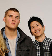 Chris Zylka and Greg Araki at the Sundance Film Festival in Utah.