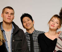 Chris Zylka, Greg Araki and Haley Bennett at the Sundance Film Festival in Utah.
