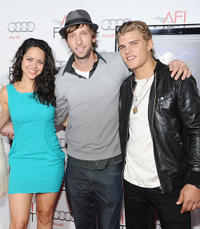 Alyssa Diaz, Joel Moore, and Chris Zylka at the AFI FEST 2010 in California.