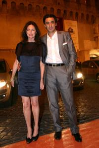 Jacqueline Bisset and guest arrive at the Castel Sant'Angelo for the opening day party of the RomaFictionFest.