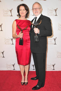 Writer Michelle Ashford and Robert Schenkkan at the 2011 Writers Guild Awards in California.