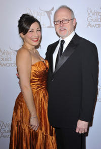 Maria Headley and Robert Schenkkan at the 2011 Writers Guild Awards in California.