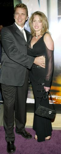 John Schneider and his wife at the WB Network's 2003 Winter Party.