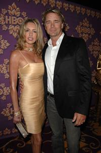 John Schneider and wife Elly Castle attend the HBO Emmy after party.