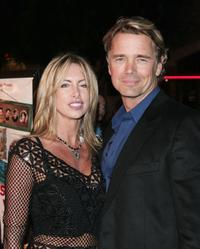 John Schneider and his wife Elly at the premiere of