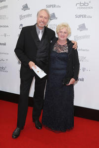 Reiner Schone and Annemarie Grendel at the red carpet of 2012 Goldene Henne Awards in Germany.