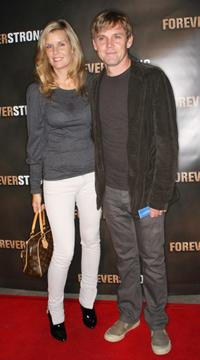 Andrea Bernard and Rick Schroder at the screening of