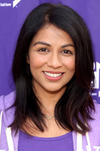 Karen David at the Walk to End Alzheimer's Los Angeles.