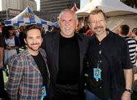 John Morris, John Ratzenberger and Ed Catmull at the after party of the premiere of