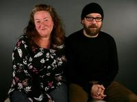 Rusty Schwimmer and Paul Giamatti at the 2006 Sundance Film Festival.