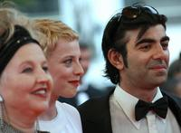 Hanna Schygulla, Fatih Akinhe and Patrycia Ziolkowska at the screening of his film