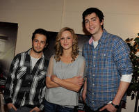 Michael Angarano, Kerry Bishe and Nicholas Braun at the