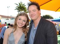 Skyler Samuels and Brendan Fraser at the after party of the premiere of