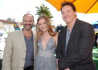 Director Roger Kumble, Skyler Samuels and Brendan Fraser at the after party of the premiere of