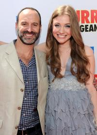 Roger Kumble and Skyler Samuels at the premiere of