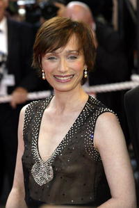 Kristin Scott Thomas at the closing night of the Cannes Film Festival 2002 in Cannes.
