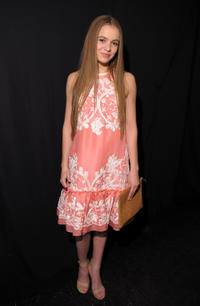 Morgan Saylor at the Naeem Khan Fall 2013 fashion show during the Mercedes-Benz Fashion Week.