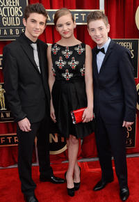 Timothee Chalamet, Morgan Saylor and Jackson Pace at the 19th Annual Screen Actors Guild Awards.