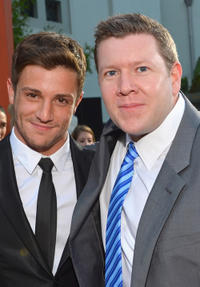 Misha Gabriel and writer Duane Adler at the California premiere of
