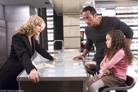 Kyra Sedgwick, The Rock and Madison Pettis in