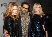 Marie-Jose Croze, director Julian Schnabel and Emmanuelle Seigner at the special screening of