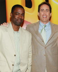 Chris Rock and Jerry Seinfeld at a special screening of