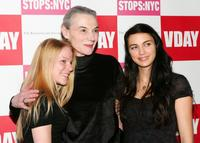 Emma Myles, Marian Seldes and Shiva Rose at the opening night of V- Day's festival