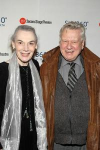 Marian Seldes and Brian Murray at the after party of